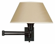 Kenroy Home 30110BLKP Simplicity Matte Black Finish 13 Inch Tall Swing Arm Wall Lamp