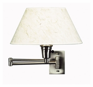 Kenroy Home 30110BS Simplicity Swing Arm Brushed Steel 13 Inch Tall Wall Light Fixture