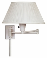 Kenroy Home 30110WHWH-1 Simplicity Transitional Swing Arm Wall Lamp - White