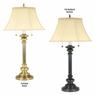 House of Troy N651 Newport Traditional Two Light Table Lamp