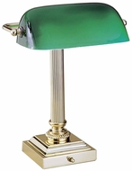 House of Troy DSK428G61 Bankers Desk Lamp in Polished Brass
