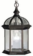 Kichler 9835BK Barrie Black 13 Inch Tall Outdoor Lighting Pendant