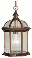 Kichler 9835TZ Barrie Outdoor Traditional 13 Inch Tall Bronze Pendant Lighting