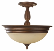 Feiss SF310PRBZ Yorktown Heights Prescott Bronze Semi Flush Mount Lighting - 14 Inch Diameter