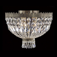 Worldwide W33085B16 Metropolitan 4 Lamp Antique Bronze Ceiling Light - Crystal
