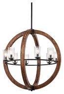 Kichler 43190AUB Grand Bank 28 Inch Diameter 8 Lamp Contemporary Chandelier - Auburn Stained