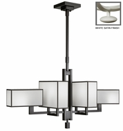 Fine Art Lamps 734040 Black & White Story 6 Lamp 42 Inch Wide Contemporary Kitchen Island Light Fixture