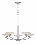 Lite Source LS19565 Calandra 5 Lamp Chrome Finish Modern Chandelier - 27 Inch Diameter