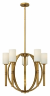 Hinkley 3585VS Margeaux 5 Lamp Vintage Brass Medium 26 Inch Diameter Contemporary Chandelier