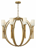Hinkley 3588VS Margeaux Extra Large Vintage Brass 36 Inch Diameter 8 Lamp Modern Chandelier Light Fixture