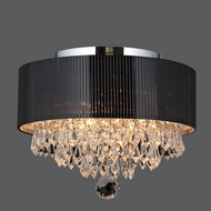 Worldwide W33137C12 Gatsby Small Chrome 12 Inch Diameter Clear Crystal Overhead Lighting