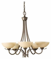 Feiss F24235CB Kinsey 5-Light Contemporary Chandelier