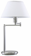 House of Troy D43652 D436 Swing Arm Table Lamp in Satin Nickel