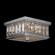 Worldwide W33140C10 Athens 10 Inch Square Chrome Finish Small Flush Mount Lighting