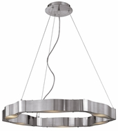 Access 62317 Titanium 6 Light Contemporary Chandelier in Brushed Steel