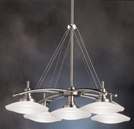 Kichler 2055NI Structures Contemporary 5-Lamp Halogen Chandelier in Brushed Nickel