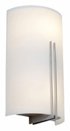 Access 20446-BS Prong�Modern Brushed Steel Finish 10 Inch Wide Exterior Wall Lamp
