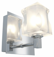 Access 23916-CH Glas�e Square 5 Inch Tall Modern Sconce Lighting - Chrome