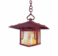 Arroyo Craftsman PDH-9GRC Pagoda Asian Outdoor Hanging Pendant Light - 9 inches wide