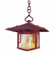 Arroyo Craftsman PDH-12GRC Pagoda Asian Outdoor Hanging Pendant Light - 12 inches wide
