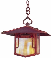 Arroyo Craftsman PDH-17GRC Pagoda Asian Outdoor Hanging Pendant Light - 17 inches wide