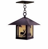 Arroyo Craftsman TRH-9DR Timber Ridge 9 inch Outdoor Pendant with Deer Filigree