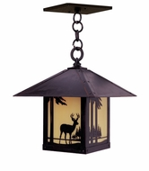 Arroyo Craftsman TRH-12DR Timber Ridge 12 inch Outdoor Pendant with Deer Filigree