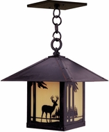 Arroyo Craftsman TRH-16DR Timber Ridge 16 inch Outdoor Pendant with Deer Filigree