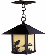 Arroyo Craftsman TRH-16TR Timber Ridge 16 inch Outdoor Pendant with Trout Filigree