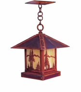 Arroyo Craftsman TRH-9MN Timber Ridge 9 inch Outdoor Pendant with Mountain Filigree