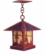 Arroyo Craftsman TRH-12MN Timber Ridge 12 inch Outdoor Pendant with Mountain Filigree
