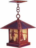 Arroyo Craftsman TRH-16MN Timber Ridge 16 inch Outdoor Pendant with Mountain Filigree