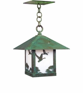 Arroyo Craftsman TRH-9GS Timber Ridge 9 inch Outdoor Pendant with Goose Filigree
