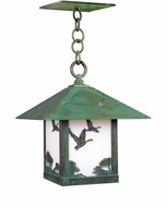 Arroyo Craftsman TRH-12GS Timber Ridge 12 inch Outdoor Pendant with Goose Filigree