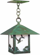 Arroyo Craftsman TRH-16GS Timber Ridge 16 inch Outdoor Pendant with Goose Filigree