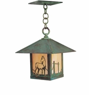 Arroyo Craftsman TRH-9HS Timber Ridge 9 inch Outdoor Pendant with Horse Filigree