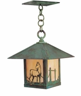 Arroyo Craftsman TRH-12HS Timber Ridge 12 inch Outdoor Pendant with Horse Filigree