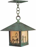 Arroyo Craftsman TRH-16HS Timber Ridge 16 inch Outdoor Pendant with Horse Filigree