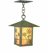 Arroyo Craftsman TRH-9PT Timber Ridge 9 inch Outdoor Pendant with Palm Tree Filigree