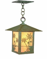Arroyo Craftsman TRH-12PT Timber Ridge 12 inch Outdoor Pendant with Palm Tree Filigree