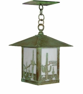Arroyo Craftsman TRH-9CT Timber Ridge 9 inch Outdoor Pendant with Cactus Filigree