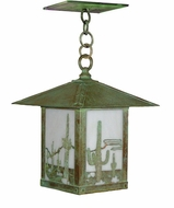 Arroyo Craftsman TRH-12CT Timber Ridge 12 inch Outdoor Pendant with Cactus Filigree