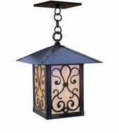 Arroyo Craftsman TRH-9AS Timber Ridge 9 inch Outdoor Pendant with Ashbury Filigree