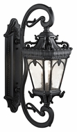 Kichler 9359BKT Tournai Extra Large 37 Inch Tall Textured Black Traditional Outdoor Sconce