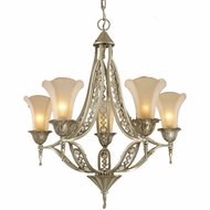 ELK 3826-5 Chelsea Rustic Crystal 5-Light Chandelier