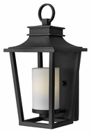 Hinkley 1744BK Sullivan 18 Inch Tall Small Outdoor Black Wall Lighting With Fluorescent Option