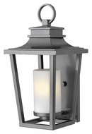 Hinkley 1744HE Sullivan Hematite Finish 18 Inch Tall Exterior Wall Lamp With Fluorescent Option - Small