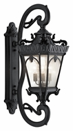Kichler 9360BKT Tournai XXL 46 Inch Tall Textured Black Traditional Exterior Sconce