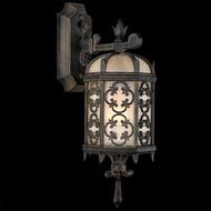 Fine Art Lamps 338581 Costa Del Sol 20 inch outdoor wall mount sconce in Marbella wrought Iron