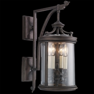 Fine Art Lamps 538581 Louvre 25 inch outdoor wall mount sconce in bronze